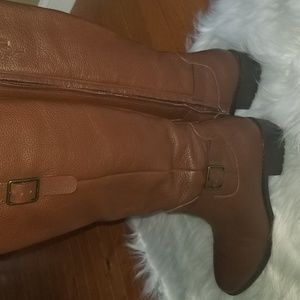 Cole Haan brown knee-high boots